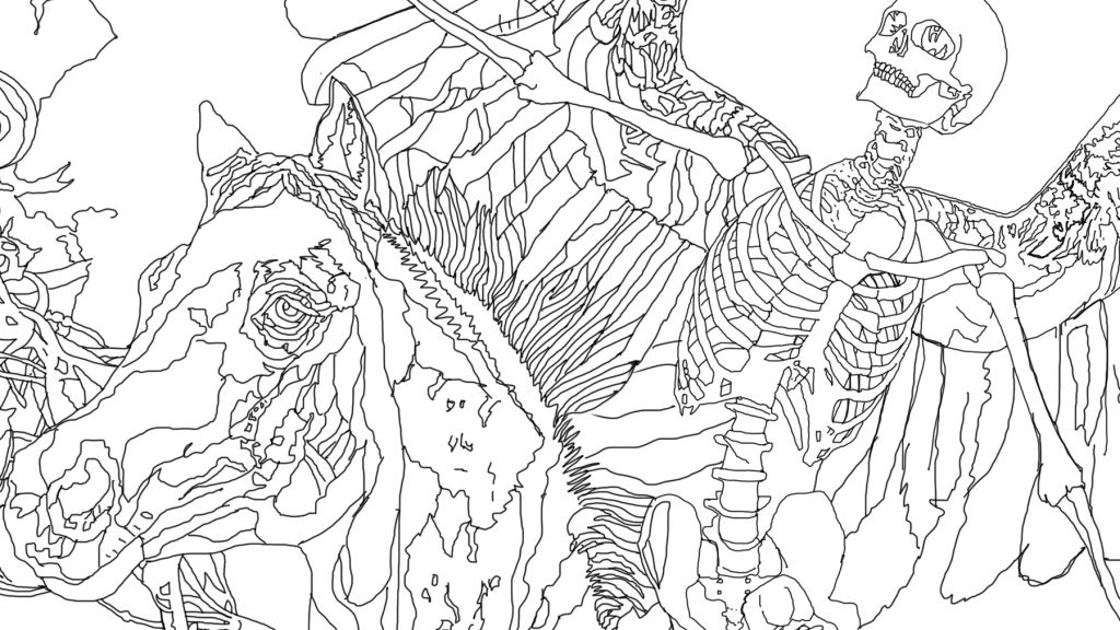 Another Apocalypse - digital hand line drawing detail