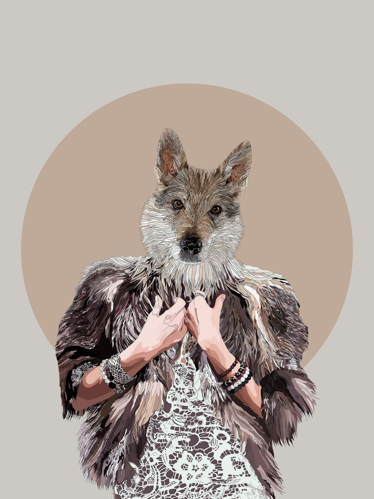 Rise of the She Wolf - She Wolf human hybrid graphic fine art