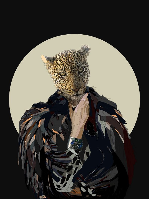 The Real Deal - Female Leopard human hybrid graphic fine art