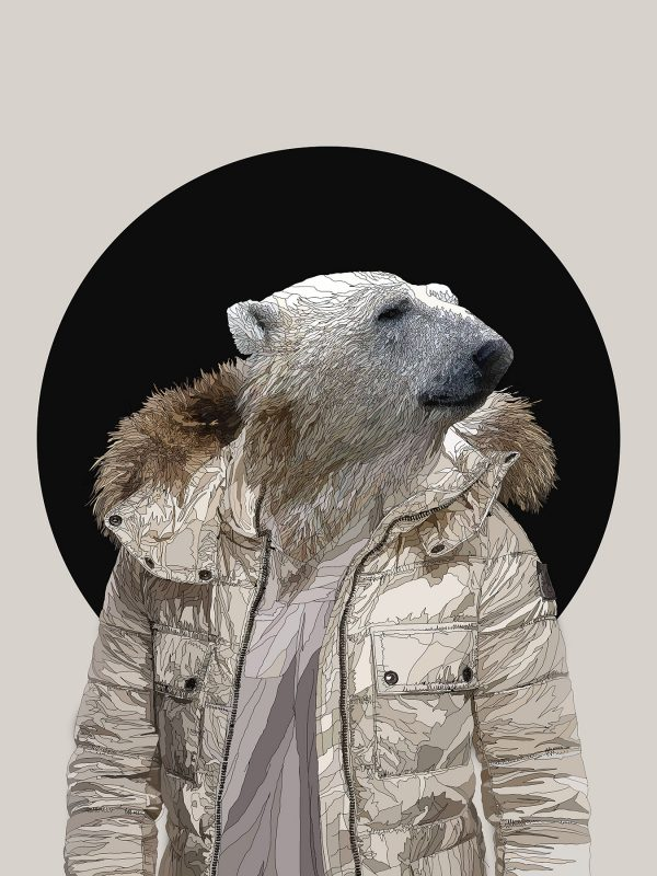 Stay Cool - Male Polar bear human hybrid graphic fine art