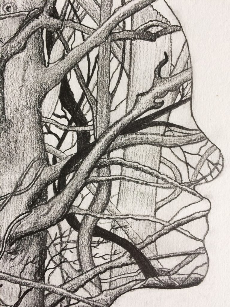 Human Nature 1 | A2 Giclée Print - detail