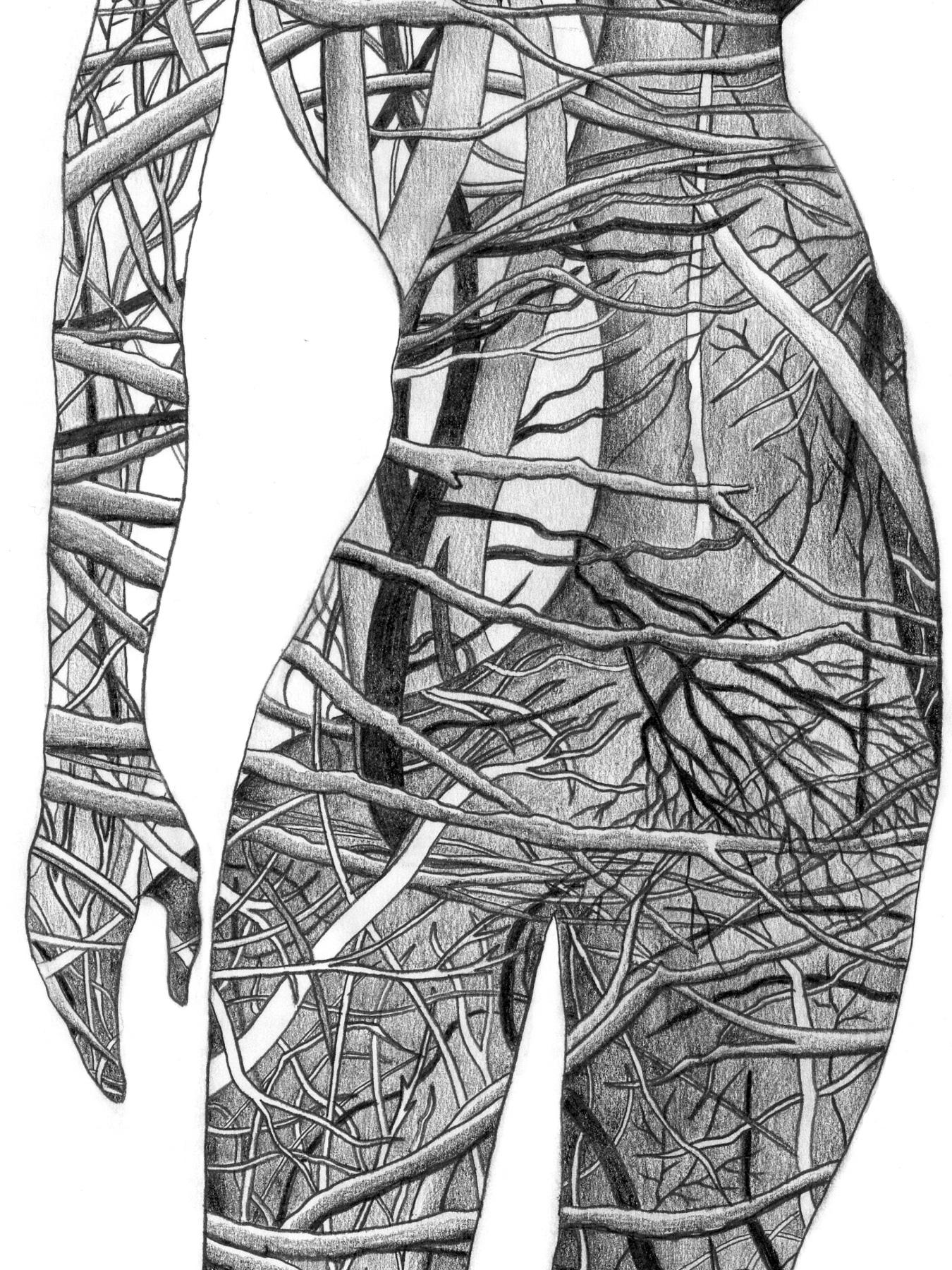Human Nature 5 | A2 Giclée Print - detail