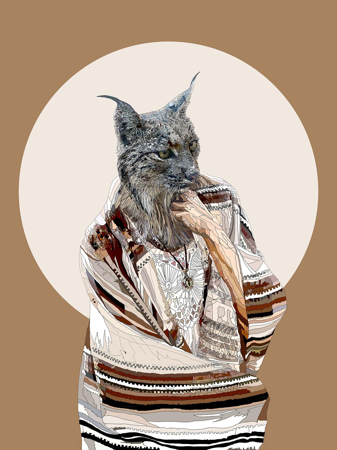 Hope Springs Eternal - Anthropomorphic art featuring an Iberian Lynx