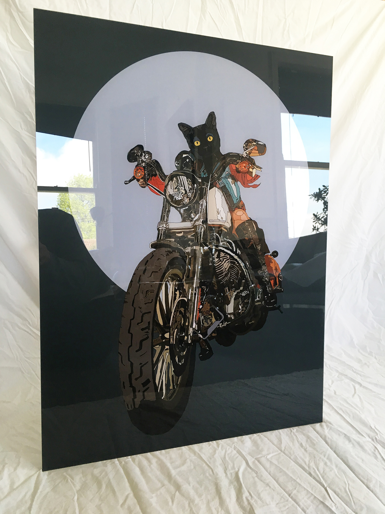 Cat Human hybrid anthropomorphic limited edition acrylic glass print