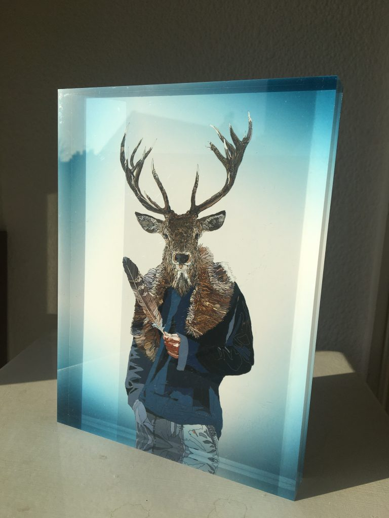 Metamorphica prints on special edition acrylic glass block