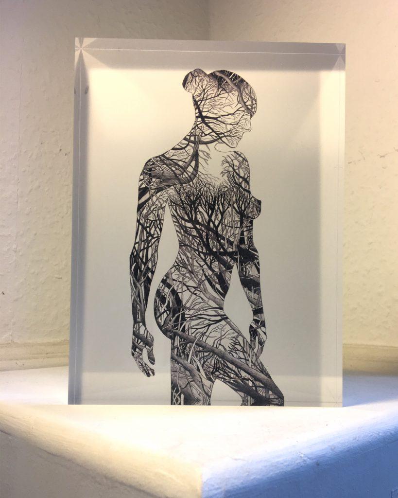 Human Nature 7 - Acrylic glass block